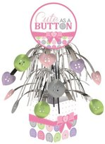 """Party Central Pack of 6 Classic and Luscious Lavender Purple """"Cute As A Button"""" Cascade Party Centerpieces 17.25"""""""