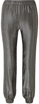 HANEY Colette Silk-blend Lame Track Pants