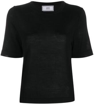 Ami Paris crewneck short sleeve jumper