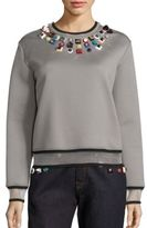 Fendi Studded Jersey Sweatshirt