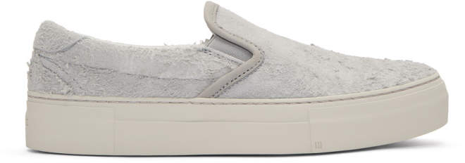 Diemme Grey Suede Garda Slip-On Sneakers