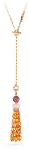 David Yurman Mustique Pink Opal & Citrine Tassel Necklace