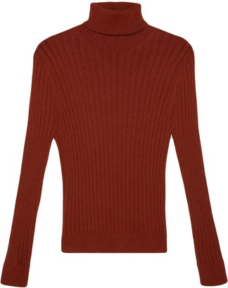Gucci Ribbed-Knit Long-Sleeve Jumper