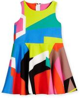 Milly Minis Sleeveless Printed Circle Dress, Multicolor, Size 8-14