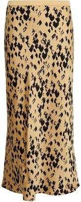 Anine Bing Bar Silk Leopard Skirt