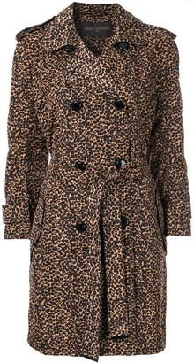 Louis Vuitton Pre-Owned Leopard Print Trench Coat