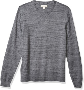 Goodthreads Amazon Brand Men's Soft Cotton V-Neck Summer Sweater