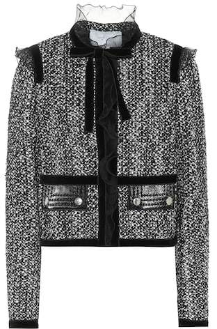 Giambattista Valli Bouclé cotton and silk-blend jacket