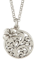 Lois Hill Sterling Silver Open Scroll Flower & Pendant Necklace
