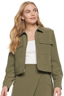 Nine West Women's Patch-Pocket Trucker Jacket
