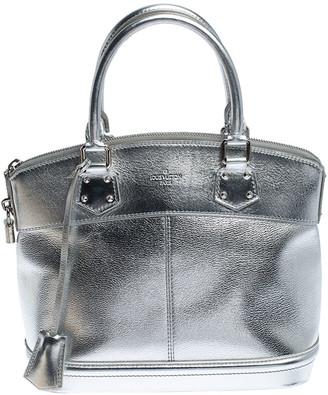 Louis Vuitton Silver Suhali Leather Lockit PM Bag
