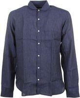 Oliver Spencer Navy Blue eton Collar Shirt