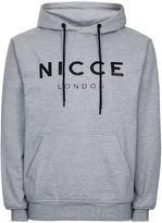 Nicce Grey Logo Hoodie