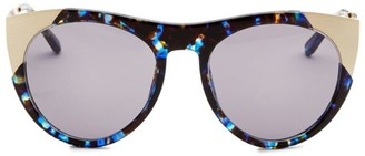 Smoke X Mirrors Zoubisou, 49MM, Round Sunglasses