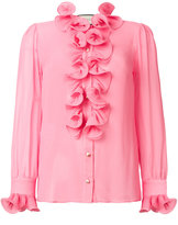 Gucci frill embroidered blouse