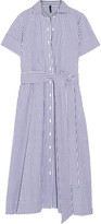 Lisa Marie Fernandez Gingham Cotton Shirt Dress - Blue