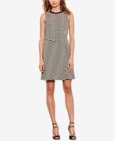 Lauren Ralph Lauren Petite Houndstooth Overlay Dress