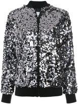 MSGM sequinned bomber jacket