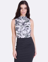 Forcast Hannah Printed Shirred Neck Top