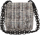One Kings Lane Vintage Chanel Black & White Tweed Crossbody Bag