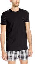 Emporio Armani Men's Stretch Cotton Eagle Logo Crew Neck T-Shirt