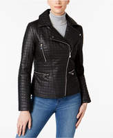 INC International Concepts Quilted Faux-Leather Moto Jacket, Created for Macy's