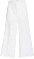 Rochas Cropped Lace Culottes