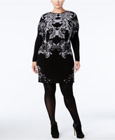 INC International Concepts Plus Size Floral Sweater Dress, Only at Macy's