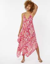 Poppy Print Hanky Hem Dress