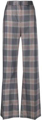 Essentiel Antwerp Checked Wide Leg Trousers