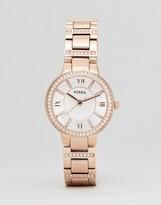 Fossil Es3284 Bracelet Watch In Rose Gold