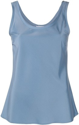 Tonello Round Neck Satin Tank Top