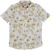 Scotch Shrunk PALM-TREE-PRINT COTTON SHIRT-WHITE SIZE 8