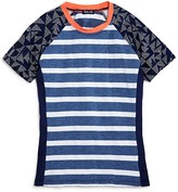 Splendid Girls' Chambray Stripe Rash Guard - Sizes S-L