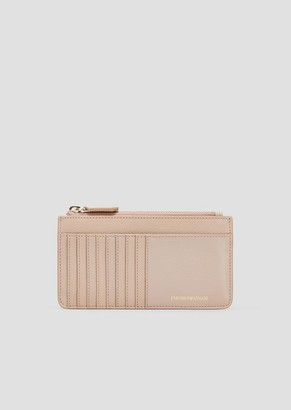 Emporio Armani Card Holder In Grained Leather