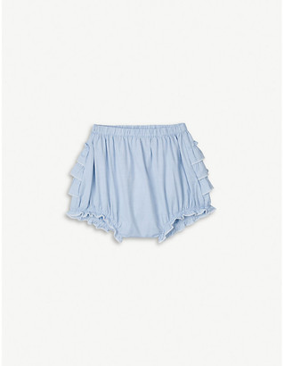 The Little White Company Summer ruffled cotton shorts 0-24 months