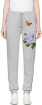 Dolce & Gabbana Grey Flower and Butterfly Lounge Pants
