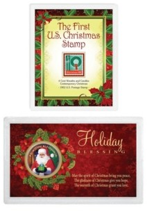 American Coin Treasures Christmas Stamp and Coin Bundle