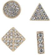 ABS by Allen Schwartz Geometric Mixed Studs, Set of 4