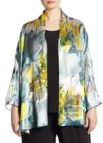 Caroline Rose Sheer Delight Devore Cardigan