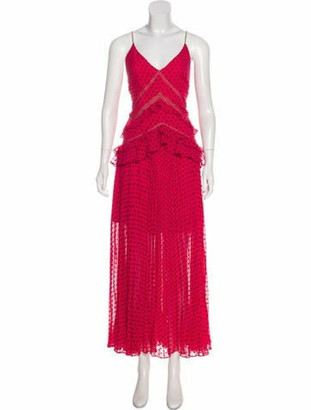 Self-Portrait 2018 Textured Maxi Dress w/ Tags Pink