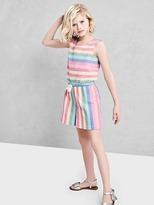 Pastel stripe culotte romper