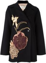 Valentino 'Kimono 1997' coat - women - Virgin Wool/Silk/Polyester/Metallic Fibre - 42