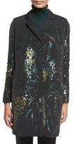 Lafayette 148 New York Genever Painterly Floral Topper Jacket, Black Multi