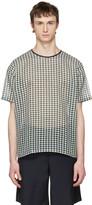 Acne Studios Green Redwood B Check T-shirt
