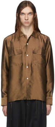 Needles Brown Paisley Cut-Off Classic Shirt