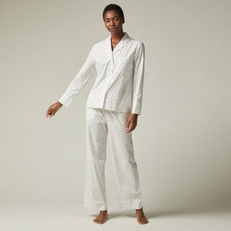 Love & Lore Love And Lore Polka Dot Poplin Pajama Set Whisper White Large