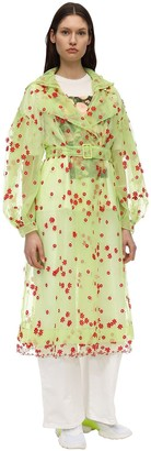 MONCLER GENIUS Simone Rocha Floral Tulle Trench Coat