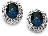 Swarovski Kaleidsocope Sterling Silver Earrings, Blue Crystal Stud Earrings with Elements