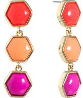 Liz Claiborne Orange Drop Earrings